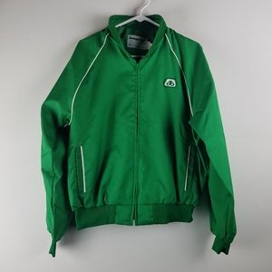 Vintage Pioneer Seed Corn Farm Jacket Coat Green